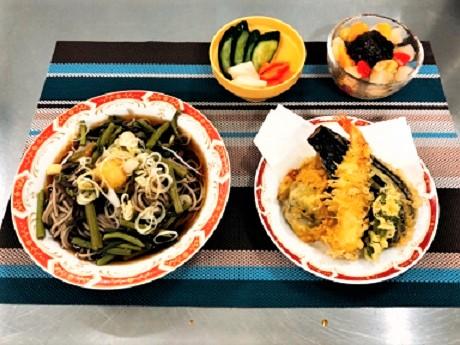 200827山菜そばと天ぷら